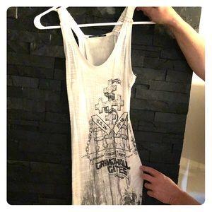 Salvage xs dress w/adjustable gathered side tie